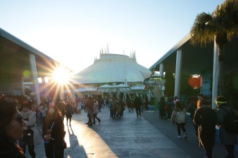 Sunset at Space Mountain